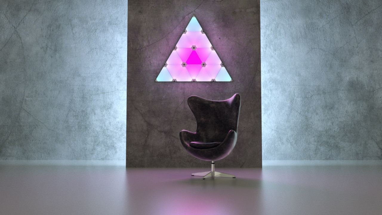 The Nanoleaf Aurora Lighting System Is Flat, Smart, and App-Connected