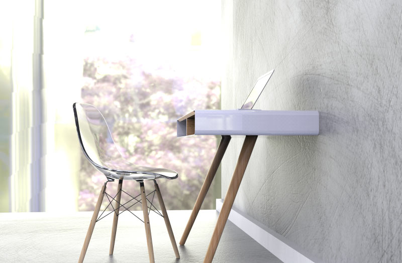 pacco a minimalist desk for the home design milk