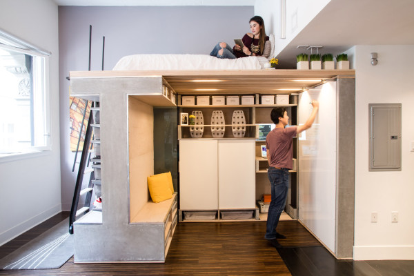 A small condo gets a multifunctional loft design milk for Murphy beds san francisco
