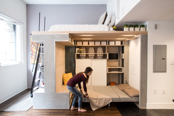 Make the Most of a Small Space with this Multifunctional Loft System