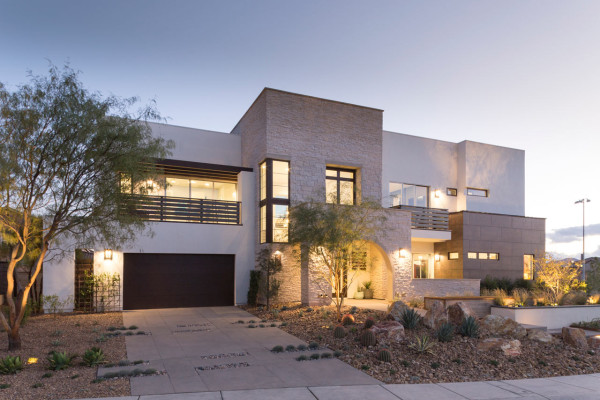 Contemporary transitional home exterior
