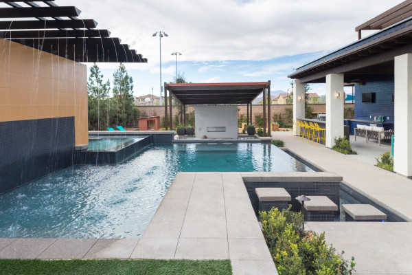 Contemporary transitional yard