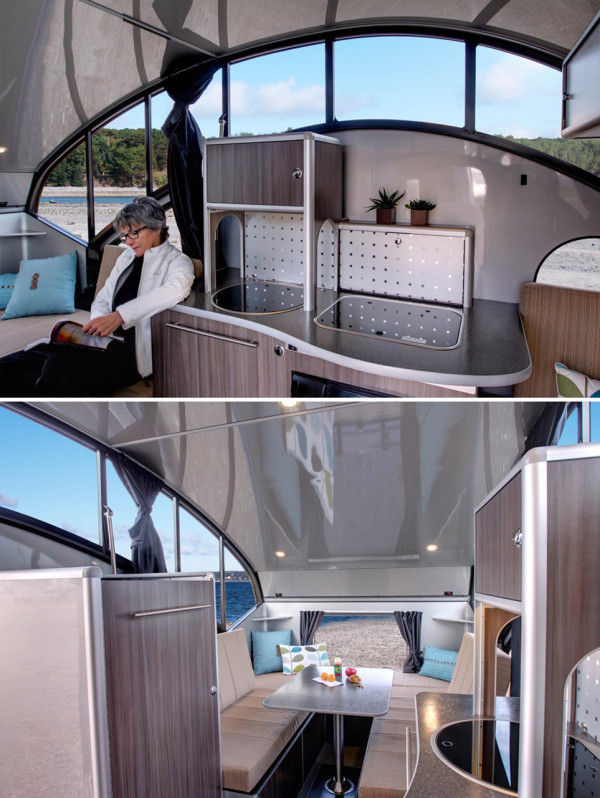 The coolest modern rvs trailers and campers design milk for Interior motorhome designs