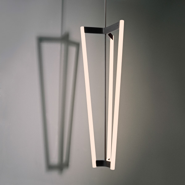 TUBE CHANDELIER BLACK PATINATED