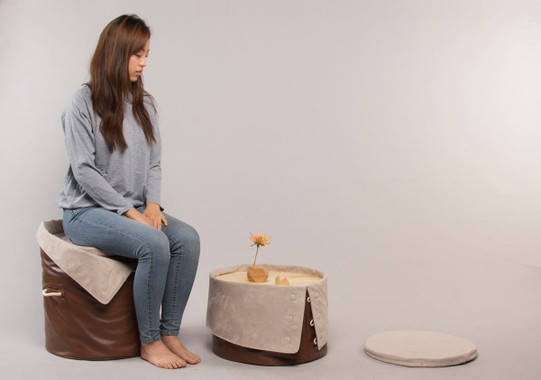 A Chair Designed to ?Give? by Dae Kim