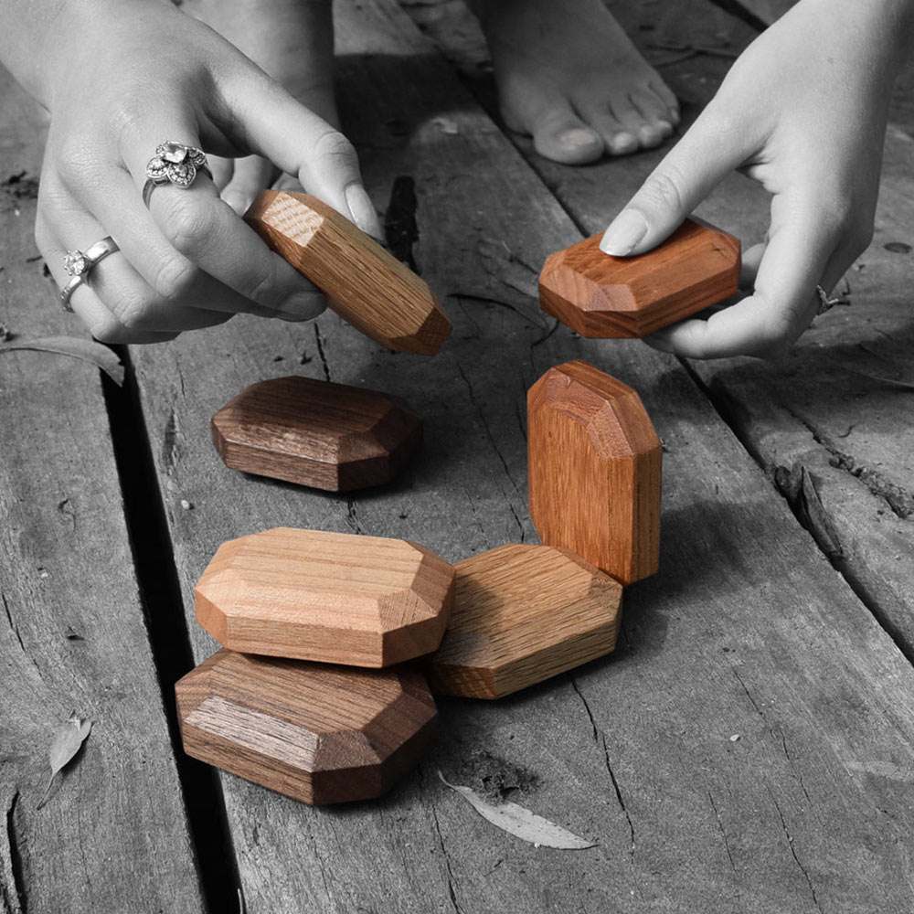 Twoodie: Gem-Inspired, Wooden Stacking Toys