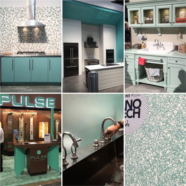 Aqua Color Trend Kitchen Design