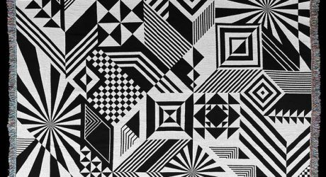Graphic, Black & White Jacquard Throws from Matt W. Moore