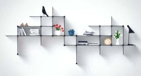 Up The Wall: A Shelving System You Can Design
