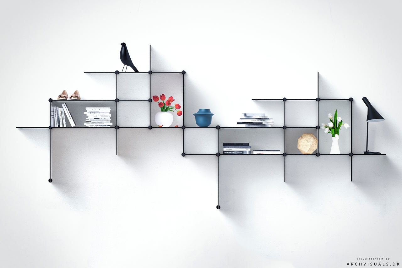 Up The Wall A Shelving System You Can Design Design Milk