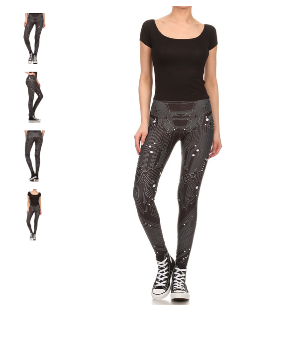 Circuit Board Leggings_Poprageous
