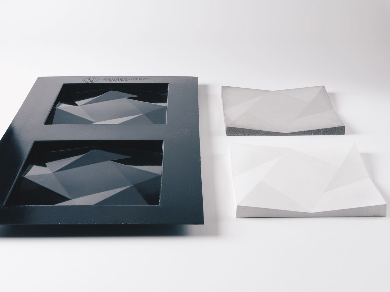 Geometric Concrete Tile Kits by Conservatory of Craft