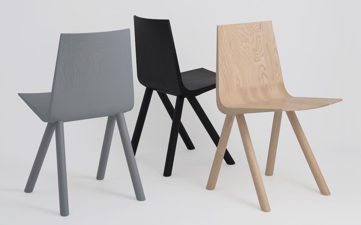 cresta solid wood shell chair  design milk - cresta solid wood shell chair