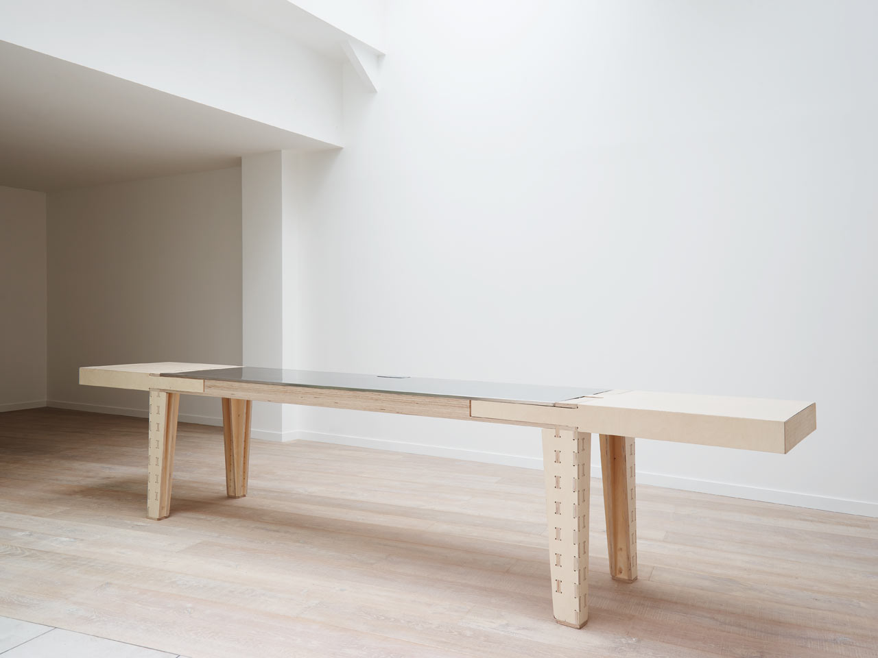 A Multipurpose Table with a Reversible Top