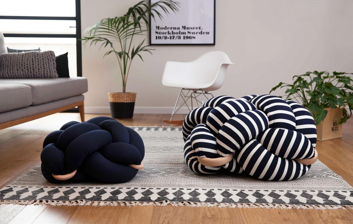 Knotty Cushions Stools From Knots Studio Design Milk