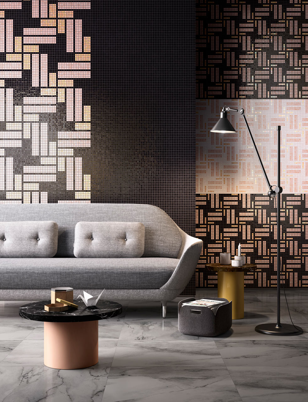 Mosaic Tiles That Resemble African Fabrics