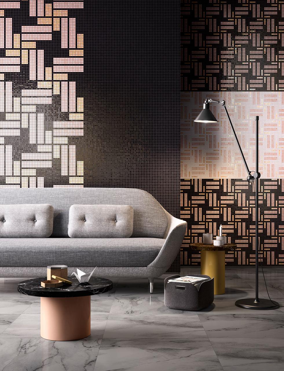 Mosaic Tiles That Resemble African Fabrics