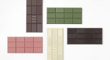 Nendo's chocolatetexturebar is a Textural Taste Experience