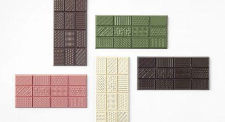 Nendo's chocolatetexturebar is a Textural Taste Experience