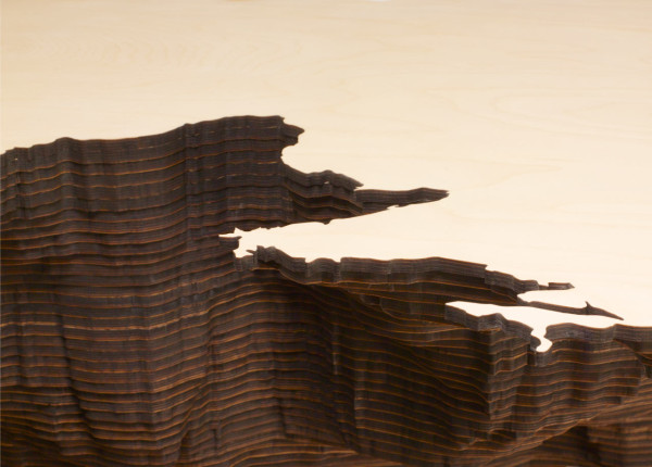 Maya Lin, Black Sea (Bodies of Water series), detail, 2006