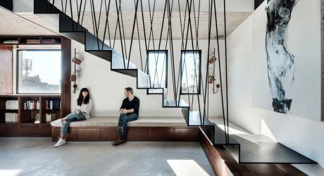 A Modular Apartment in Tel Aviv with a Cool Staircase