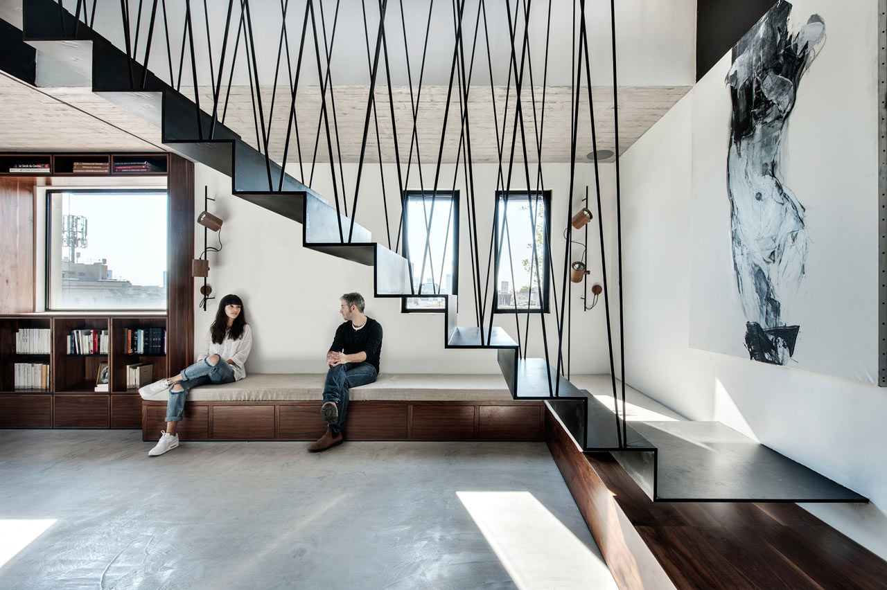 A Modular Apartment in Tel Aviv with a Cool Staircase - Design Milk