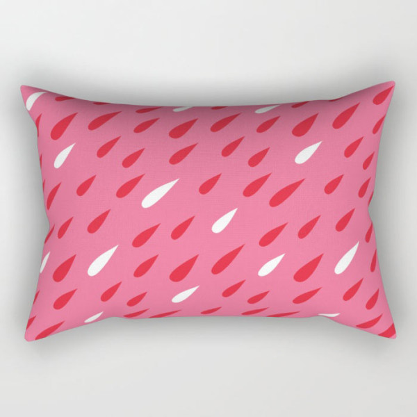 red-pink-droplets-rectangular-pillows