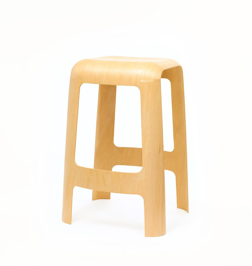 A Stool Made From Only One Sheet of Plywood
