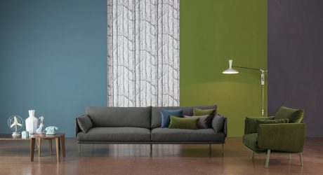 A Sofa that Plays with the Architectural Structure of a Basic Sofa