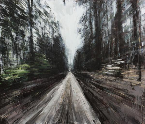 Biking in The Woods – 2015 – oil on panel – 48x41in