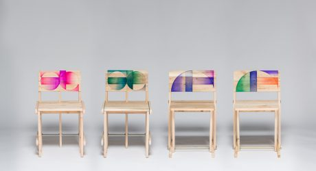 Recycled Pallets Becomes Chairs with Acrylic Details