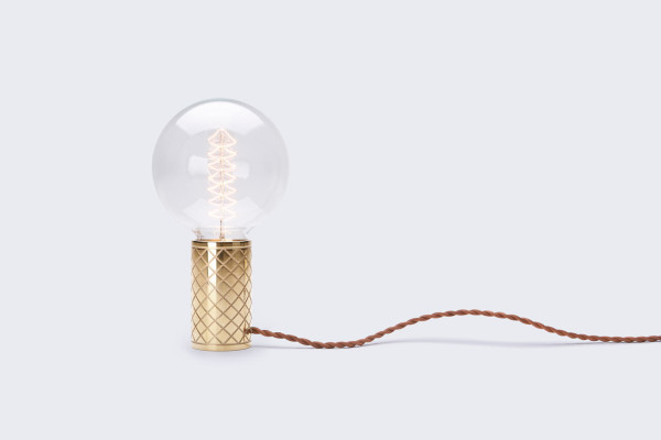 A Minimalist Lamp Inspired by a Bulb & Bicycle Grip