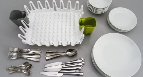 The ILO Clam Shell Dish Drainer by Scott Jarvie