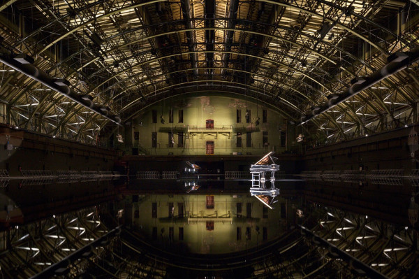"Park Avenue Armory, Drill Hall \\ Image of Douglas Gordon ""Tears Become … Streams Become"""