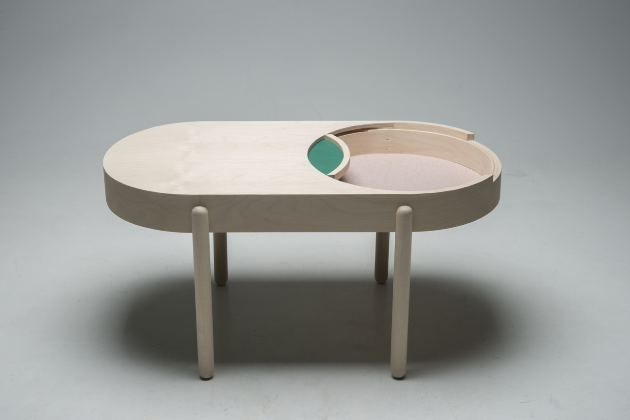 BIRK Coffee Table Inspired by Domino Boxes