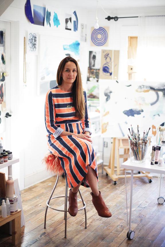 Karina Bania in her studio