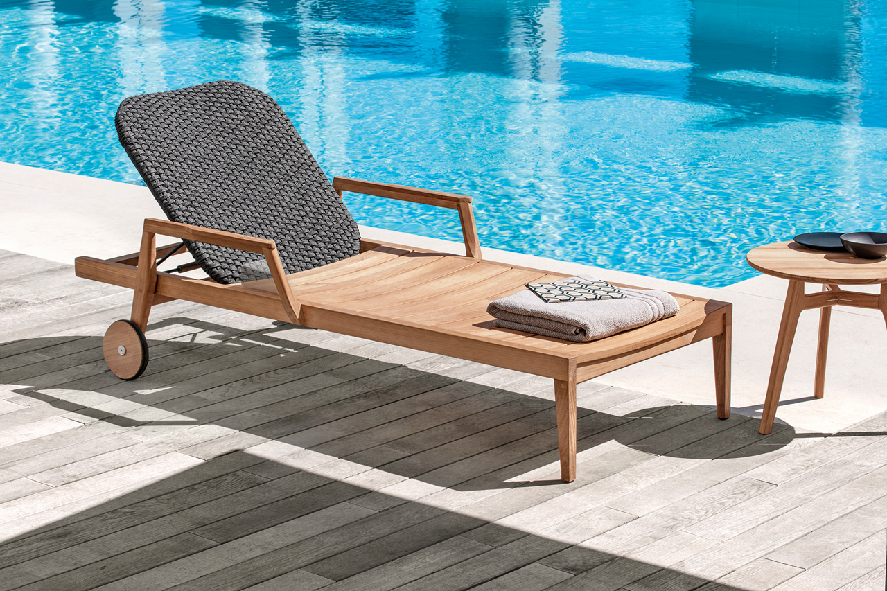 An Outdoor Collection Made Of Wood U0026 Woven Fabric ...