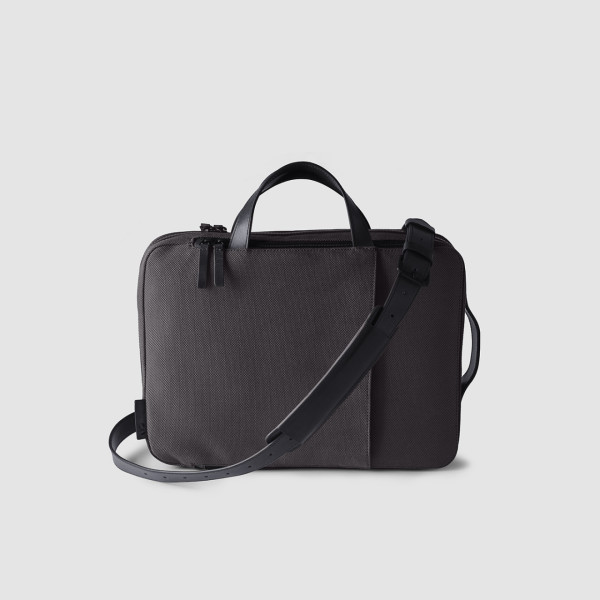 Octovo-Fabric-Briefcase-Charcoal-Front