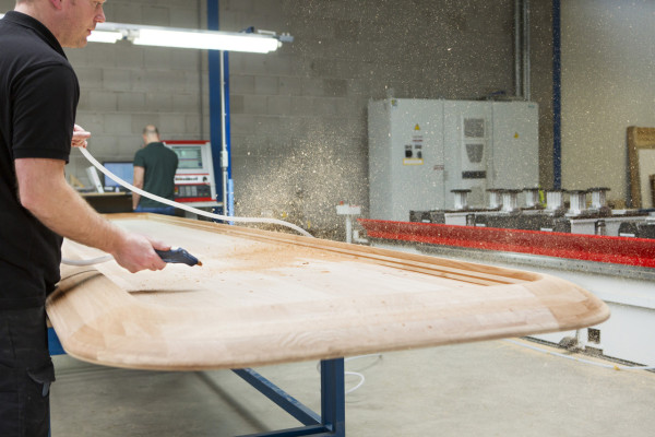 Clearing saw dust following CNC milling