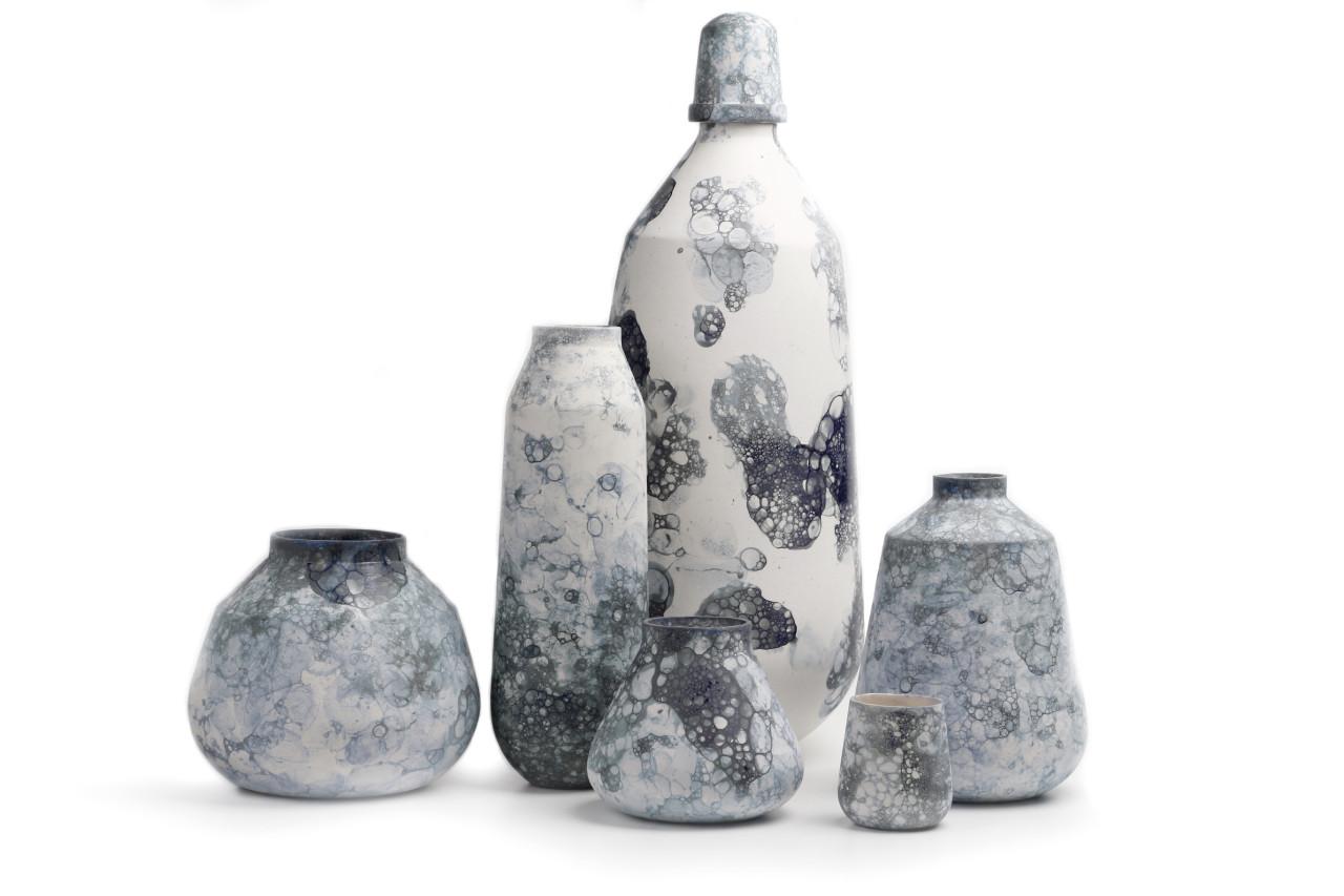 Studio Oddness Creates Vases With Random Designs Using Bubbles