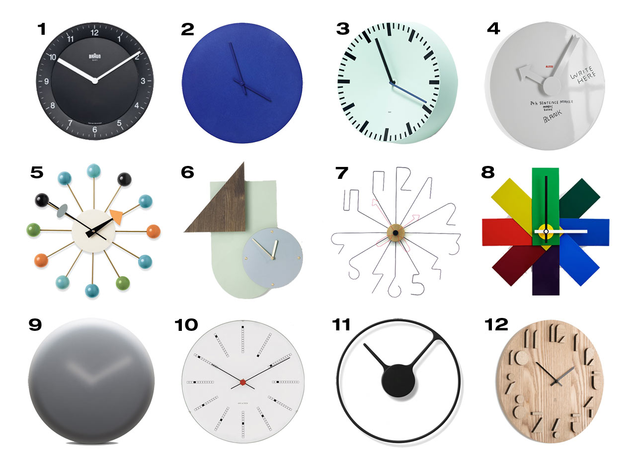 12 Modern Wall Clocks Design Milk