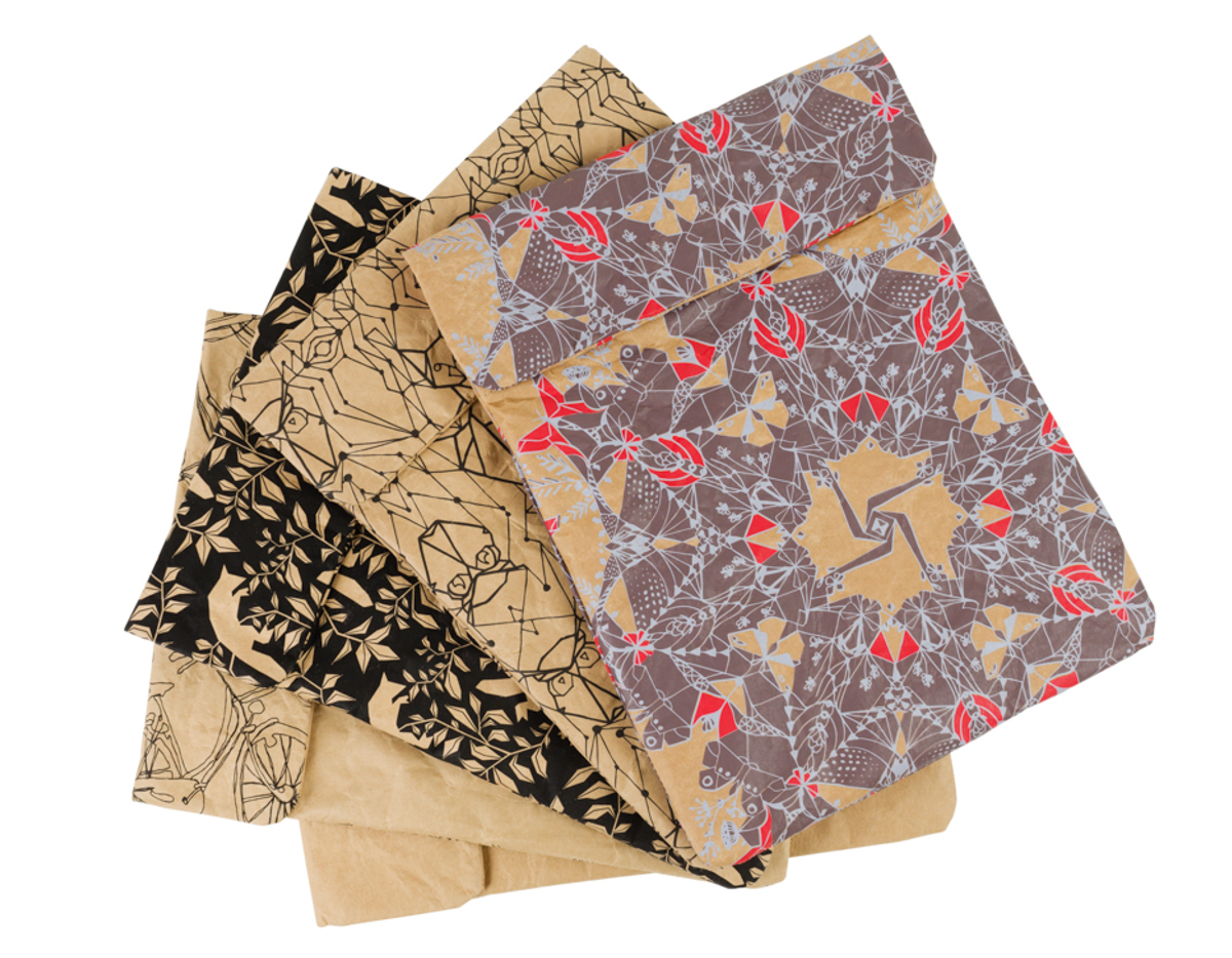 Hand-Printed Tablet Cases Made From Recycled Paper Cement Bags