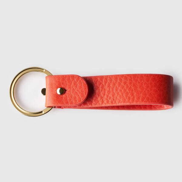 octovo-womens-key-chain-leather-titanium-orange-back