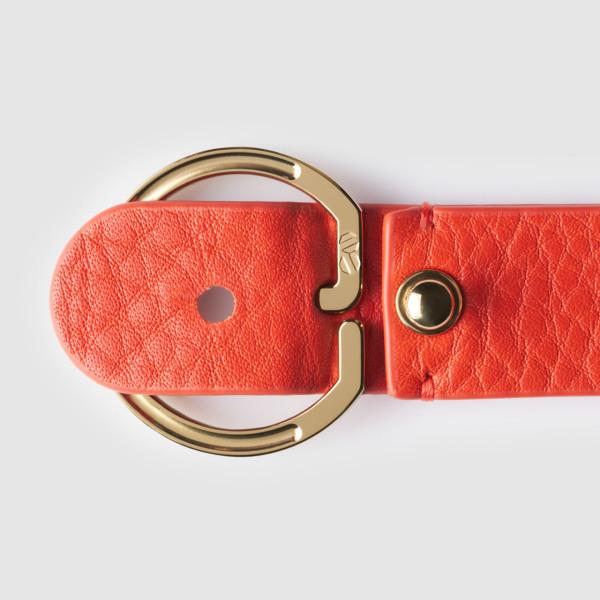 octovo-womens-key-chain-leather-titanium-orange-open