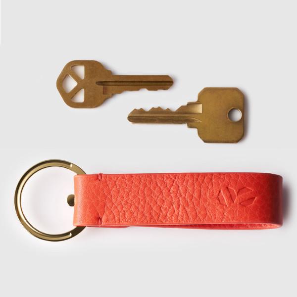 octovo-womens-key-chain-leather-titanium-orange-propped