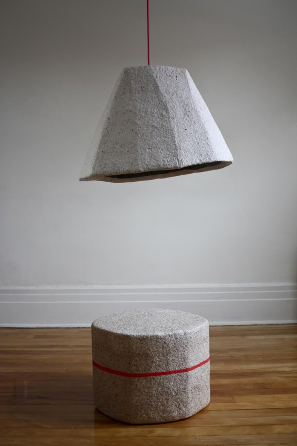 recycled paper furniture. Dear-Human-Paperscapes-lamp-stool Recycled Paper Furniture A