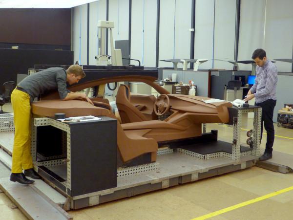 General Motors interior designers John McDougall and Aaron Stich.