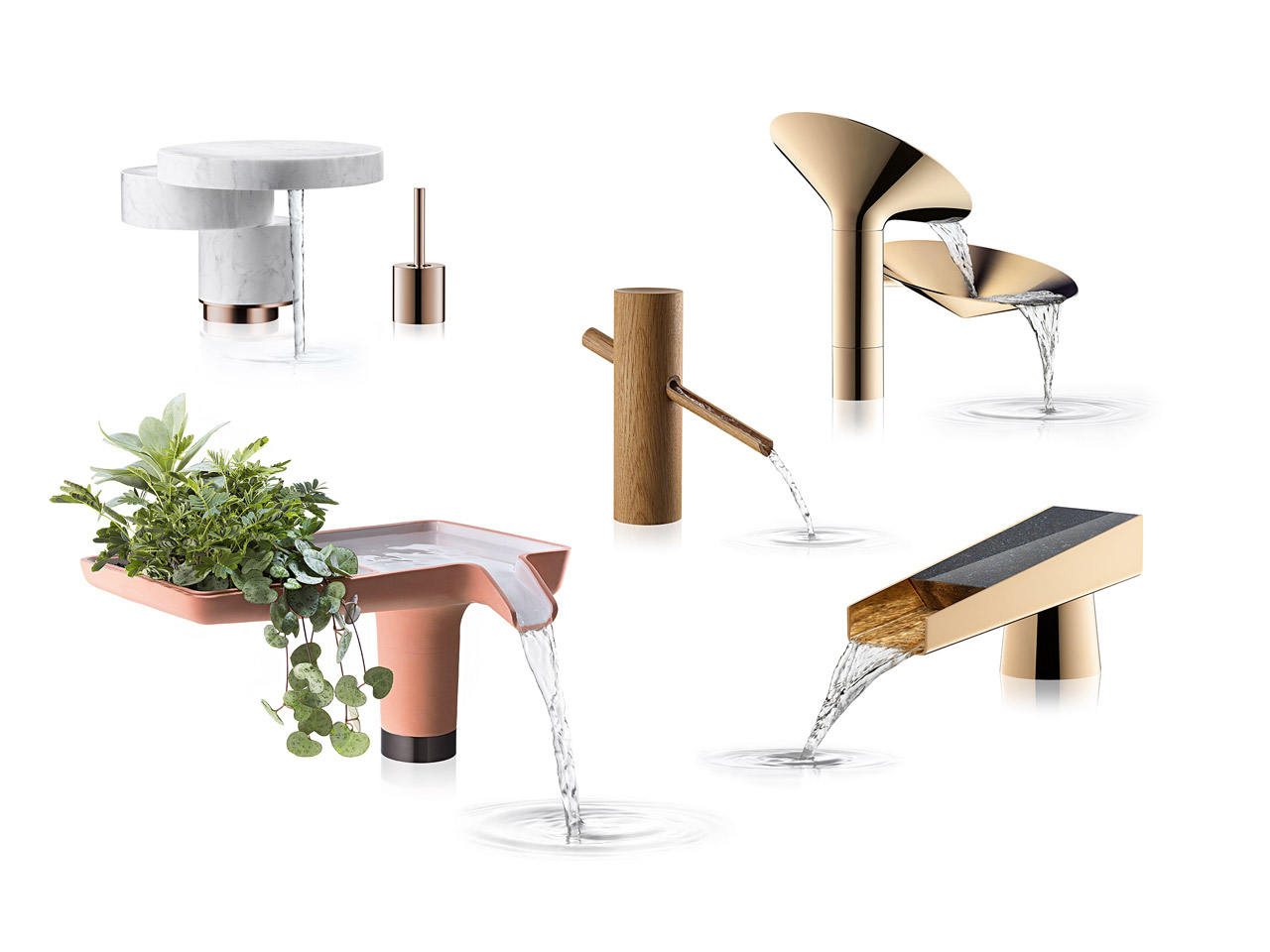 Designers Reimagine Faucets for Axor WaterDream 2016