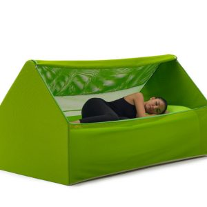 An Inflatable, House-Shaped Bed (in a Bag!) for Guests