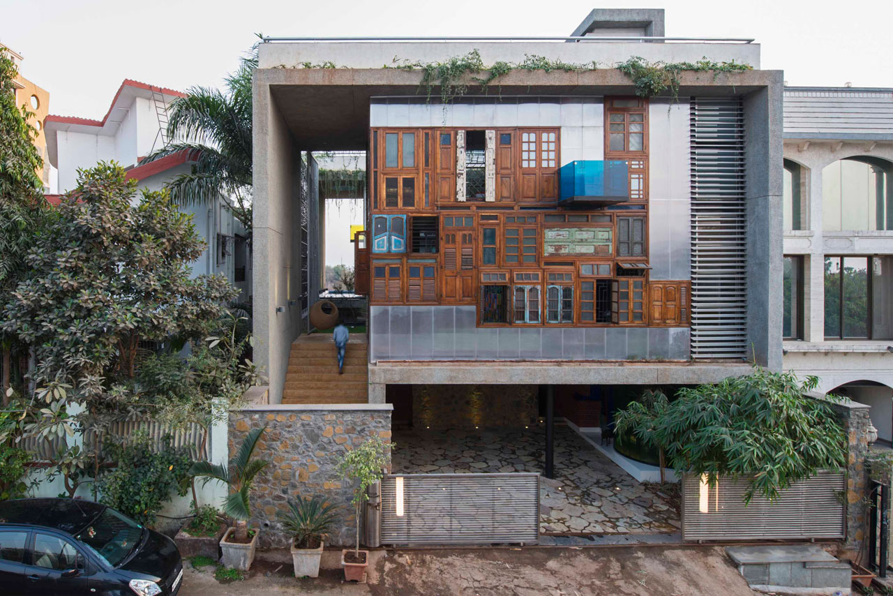A house full of recycled materials design milk for Reclaimed house materials